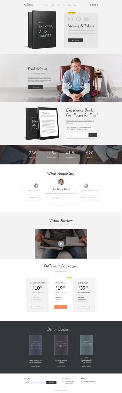 Flexível template Web №61351 para Sites de Empresa de Editoração