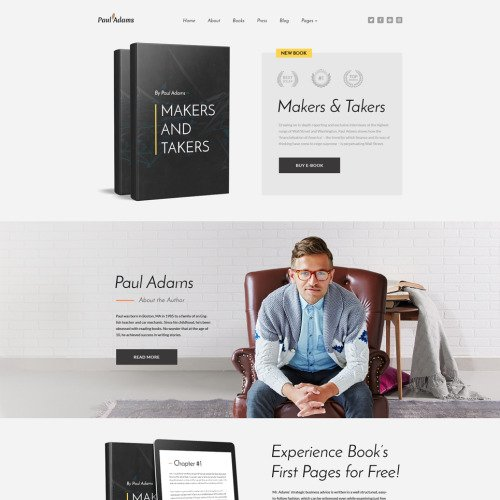 Paul Adams - Website Template for writers based on Bootstrap