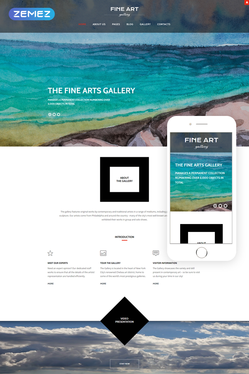"Plantilla Joomla ""Fine Art - Art & Culture Gallery Responsive"" #61335"