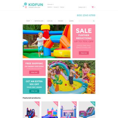 Responsive Plantilla OpenCart #61366 para Sitio de  para Tienda de Productos para Bebés