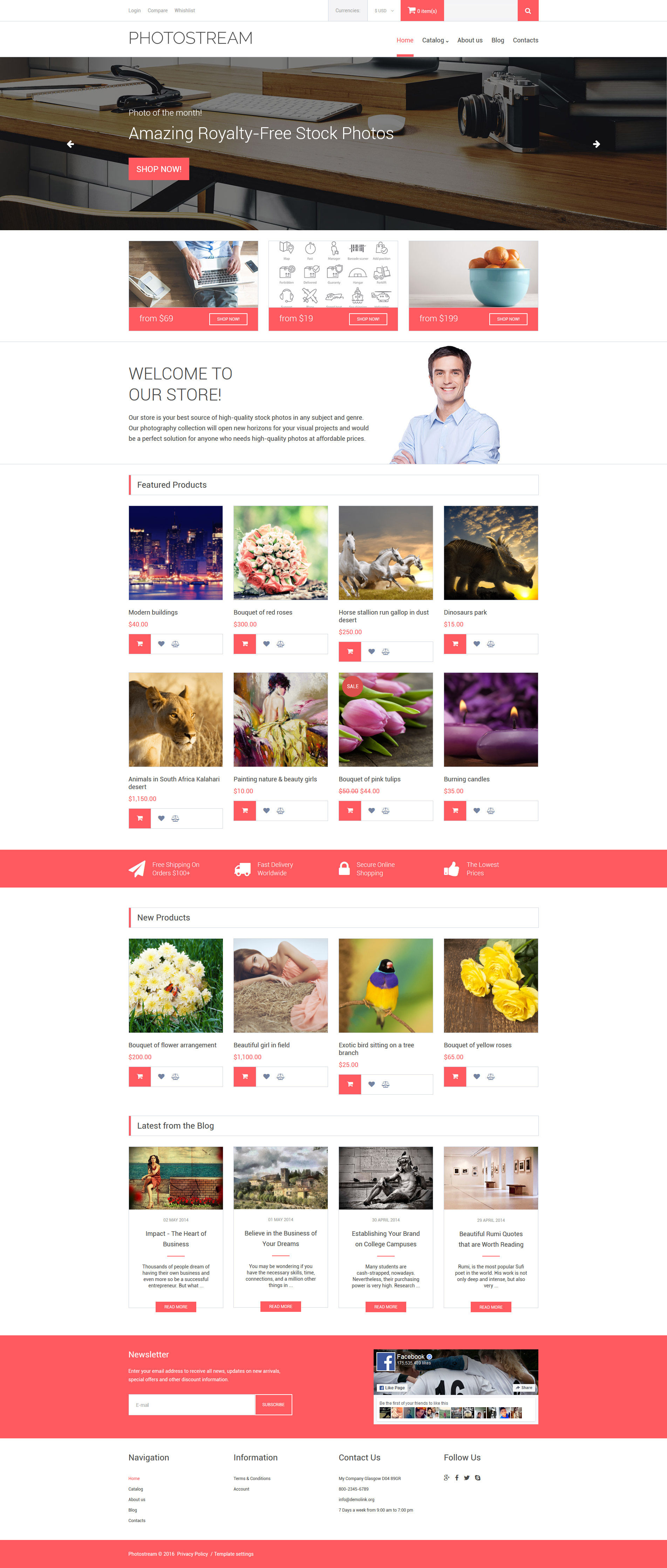 Plantilla VirtueMart #61399 para Sitio de Stock Foto