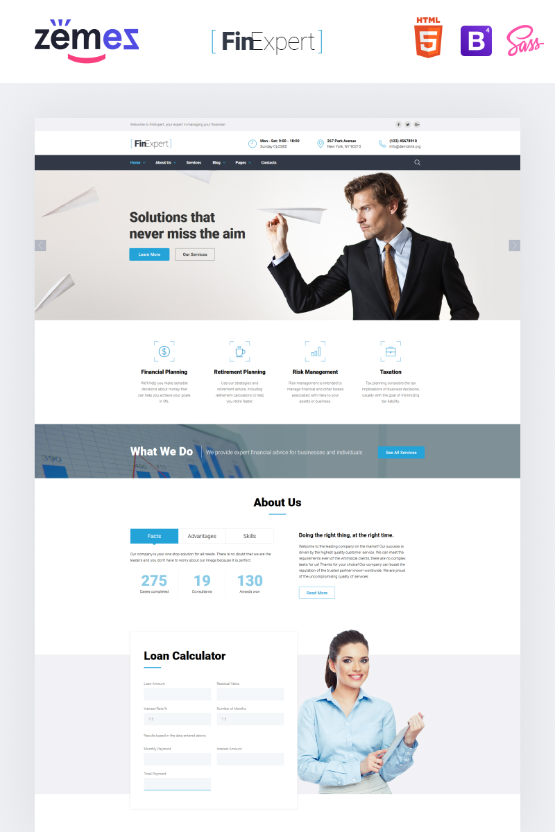 "Plantilla Web ""Financial Advisor Responsive"" #61389"