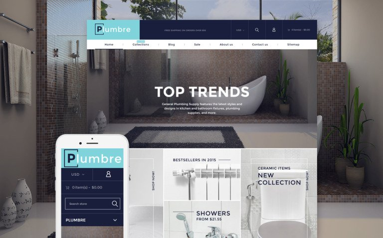 Plumbre - Plumbing & Building Parts Shopify Theme New Screenshots BIG