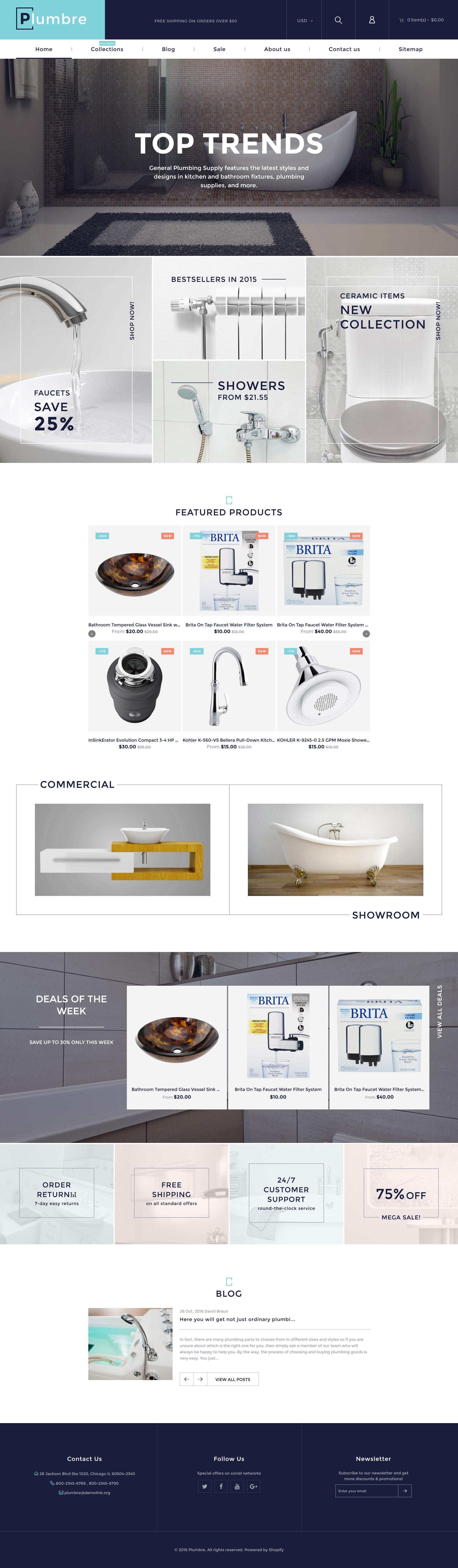 Plumbre - Plumbing & Building Parts Shopify Theme - screenshot