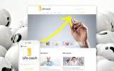 Responsive Joomla Template over Life Coach