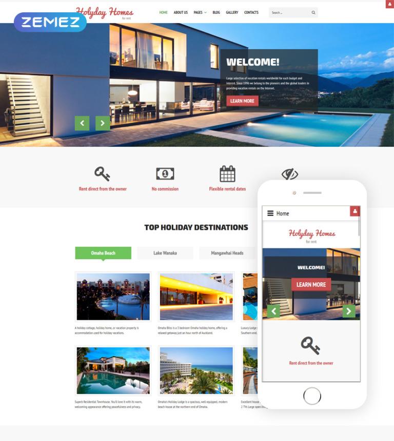 Joomla Vorlage #61313 für Immobilienagentur