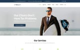 Responsive Website template over Financieel adviseur