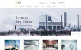 Responsive Website template over Gas en Olie