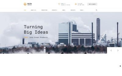 Responsive Website Vorlage für Öl und Gas  #61397