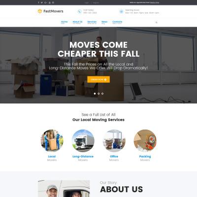 WordPress Theme #62117 für Umzugsfirma