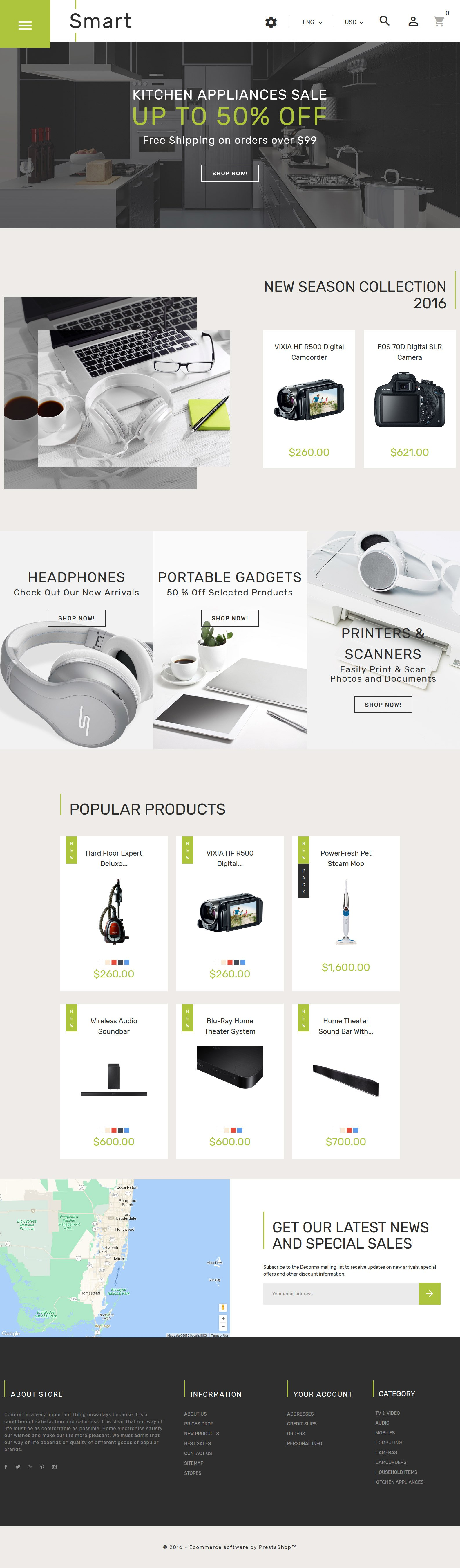 Responsivt Smart - Gadgets & Electronics PrestaShop-tema #61360 - skärmbild
