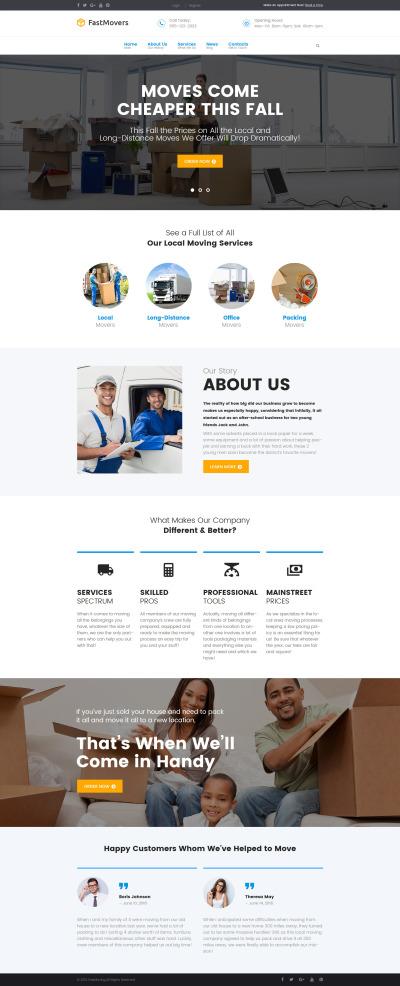 Responsywny motyw WordPress #61378 na temat: firma przeprowadzkowa