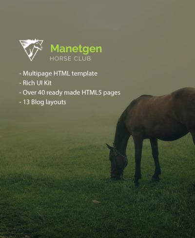 Horse Responsive Šablona Webových Stránek