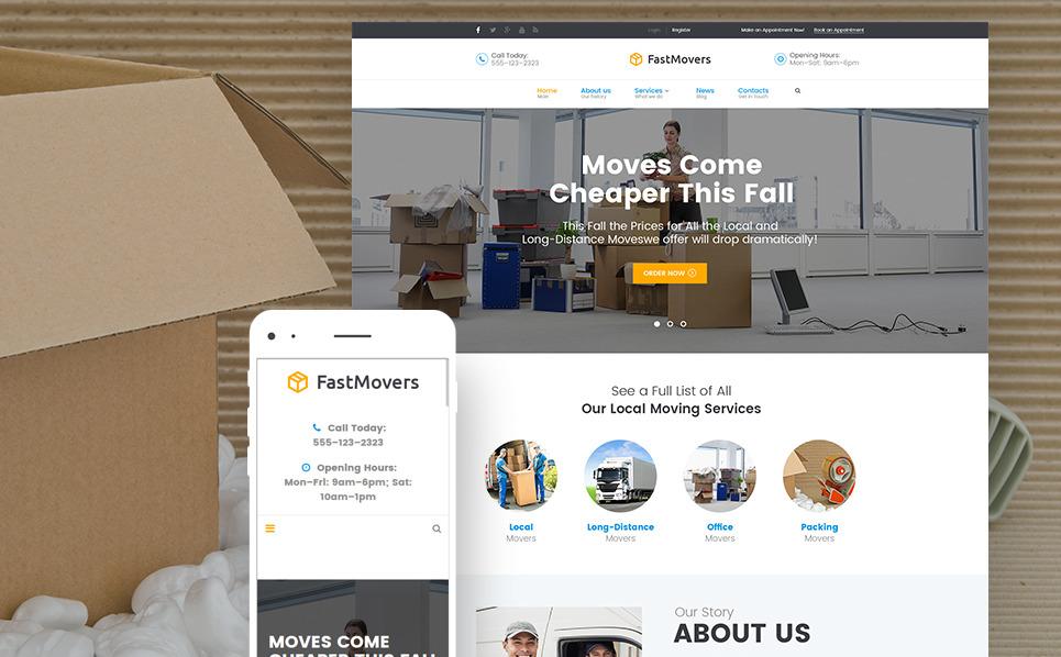 Reszponzív Költöztető vállalatok WordPress sablon New Screenshots BIG