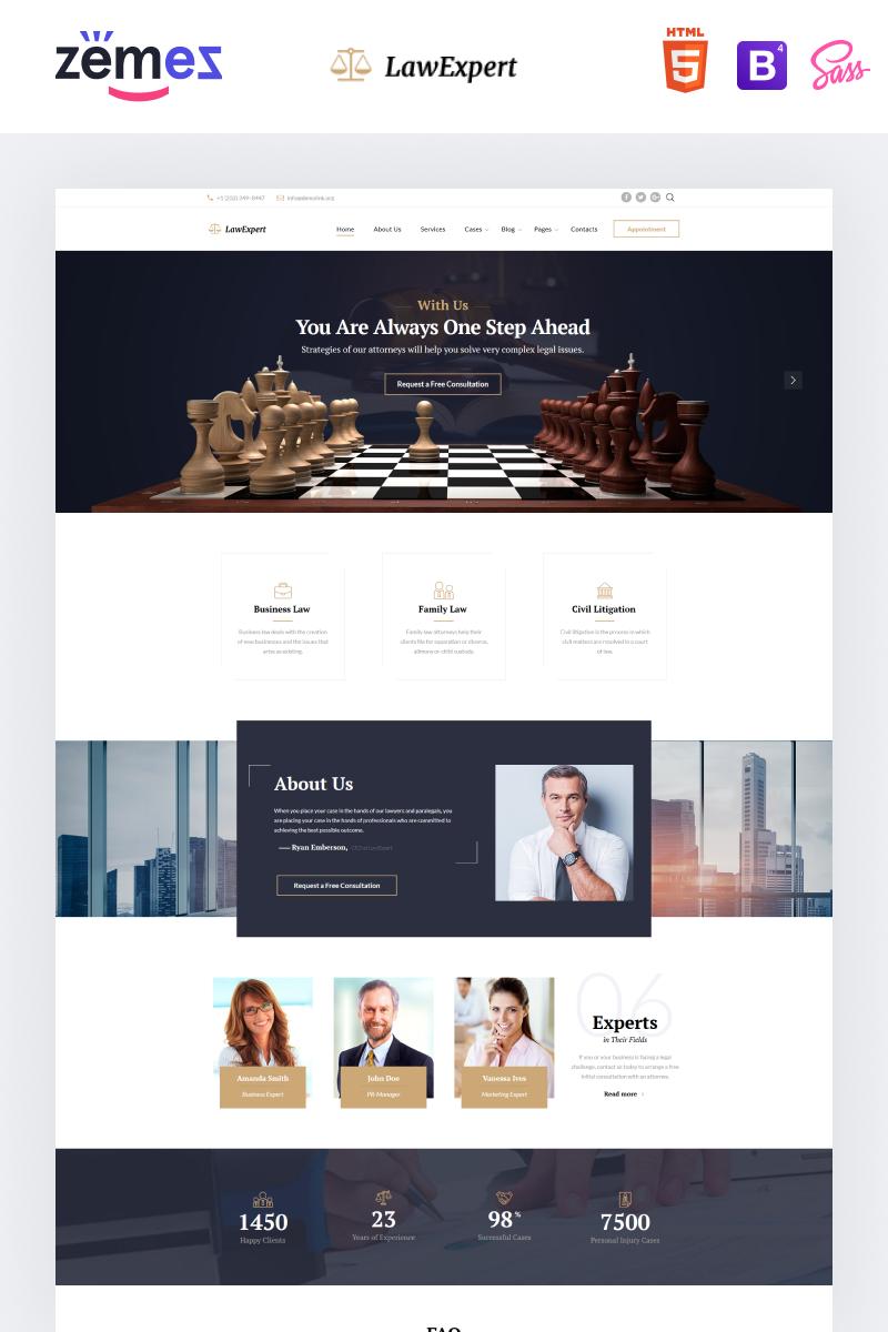 Reszponzív Law Expert - Law Firm Responsive Weboldal sablon 61317