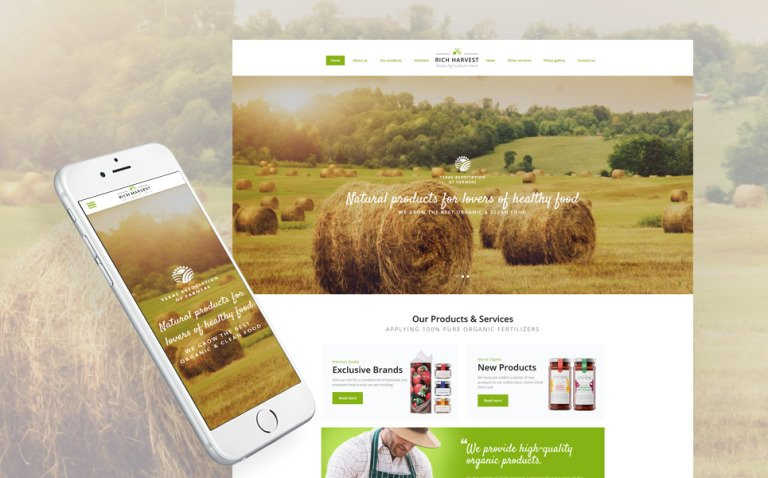 Rich Harvest - Agriculture Farm Responsive Multipage Website Template New Screenshots BIG