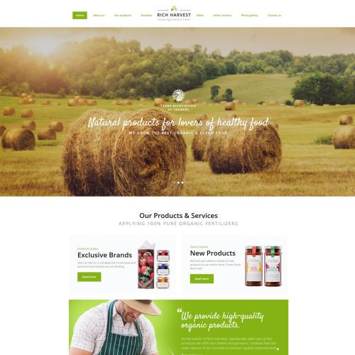 Rich Harvest - Responsive Multipage Website Template
