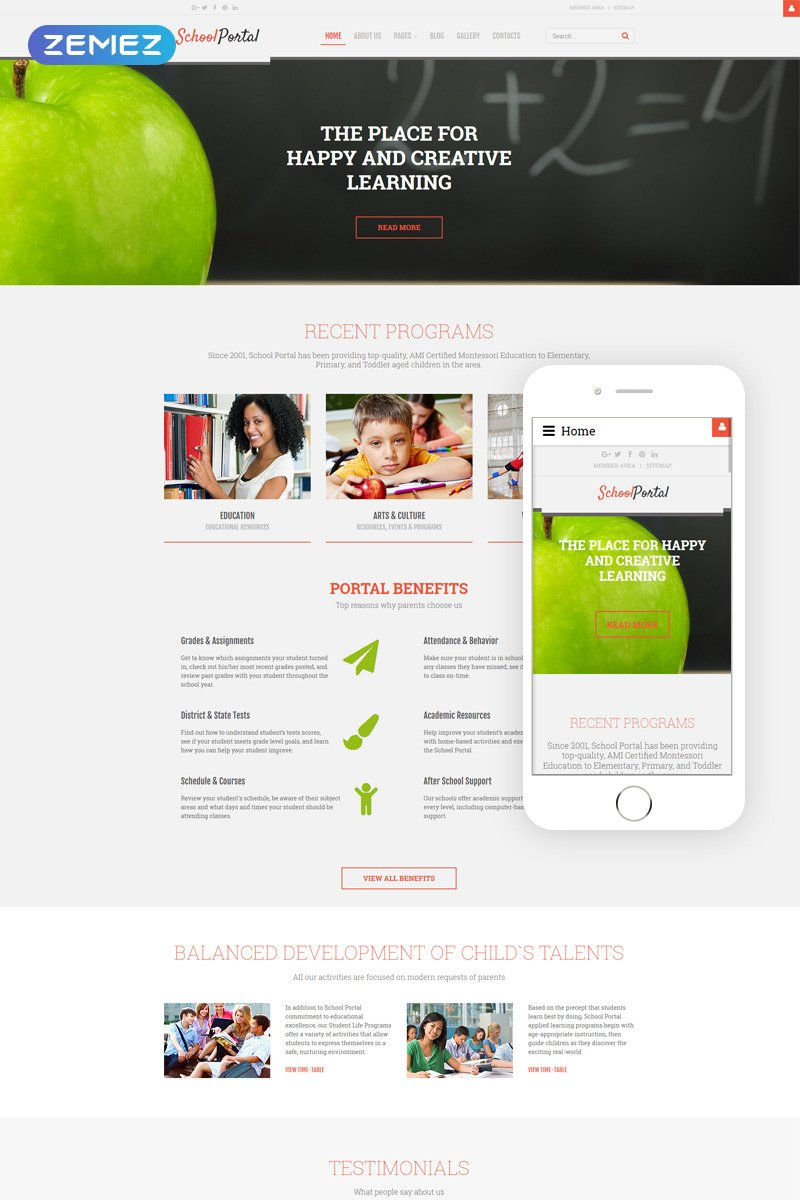 School Portal - Educational School Portal Responsive Joomla Template New Screenshots BIG