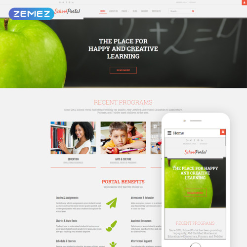 School Portal - Joomla! Template based on Bootstrap
