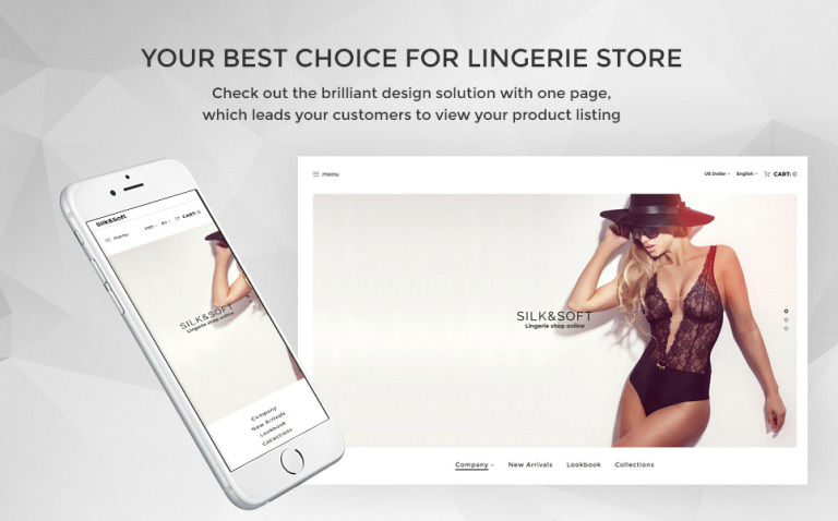 Silk & Soft - Underwear & Lingerie Online Store OpenCart Template New Screenshots BIG
