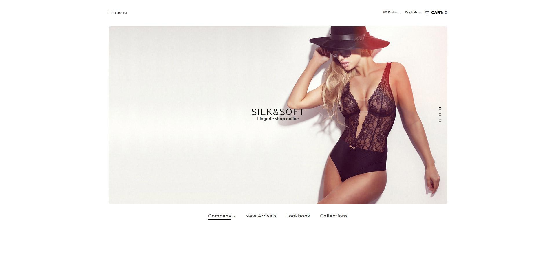 Silk & Soft - Underwear & Lingerie Online Store OpenCart Template - screenshot