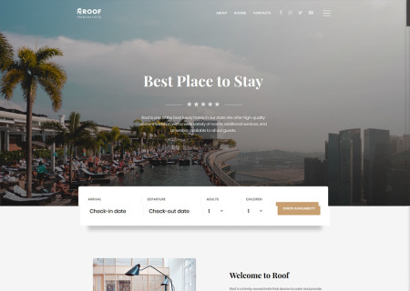 Hotel & Resort Bootstrap