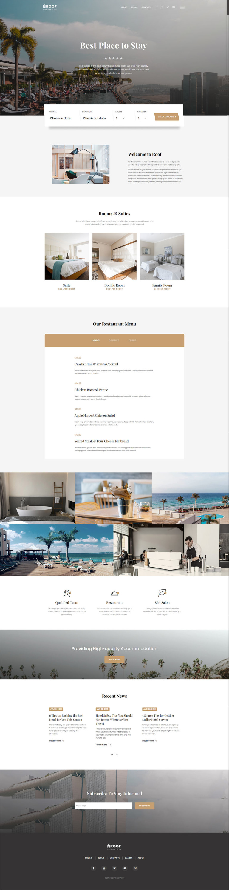 Small Inn - Mini Hotel Responsive Multipage Website Template New Screenshots BIG