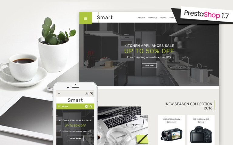 Smart - Gadgets & Electronics PrestaShop 1.7 Theme Big Screenshot