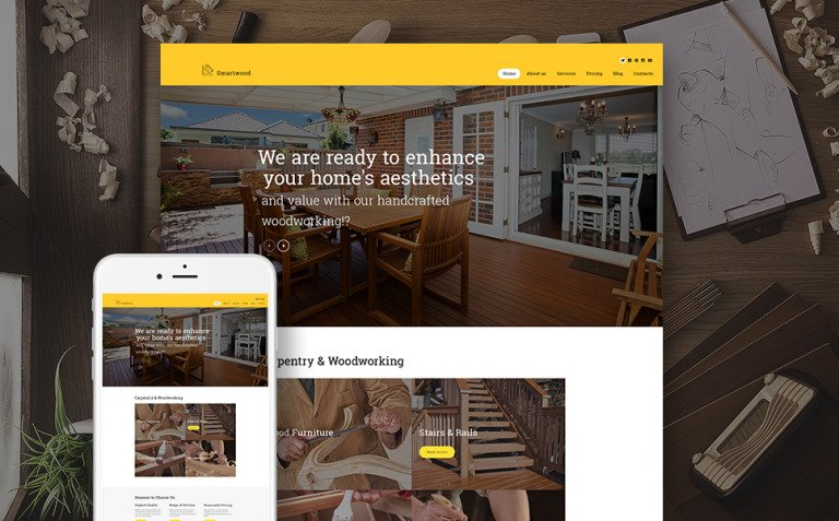 Smartwood - Carpentry & Woodworking WordPress Theme New Screenshots BIG