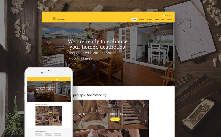 Smartwood - Carpentry & Woodworking WordPress Theme
