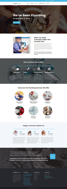 SmithPlumbing - Maintenance and Plumbing WordPress Theme