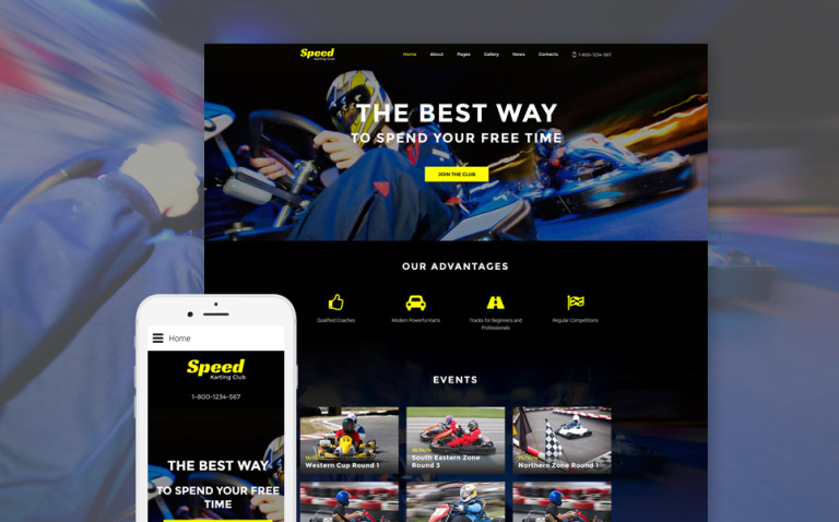 Speed - Karting Club Responsive Joomla Template New Screenshots BIG