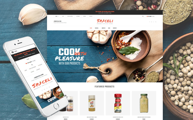 Spice Shop Responsive VirtueMart Template New Screenshots BIG