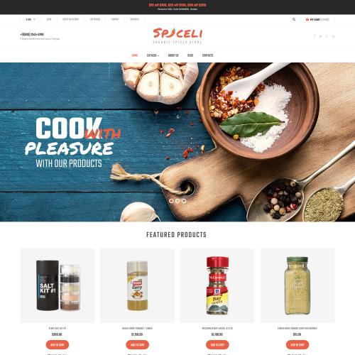 Spiceli - VirtueMart Template based on Bootstrap
