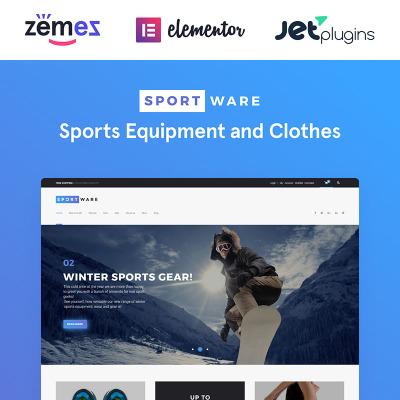 Thème WooCommerce adaptatif  pour boutique de sport