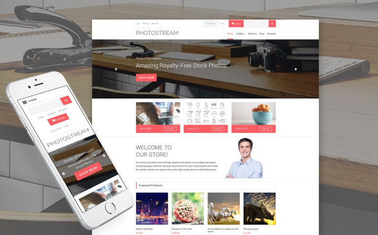 Stock Photo Responsive VirtueMart Template New Screenshots BIG