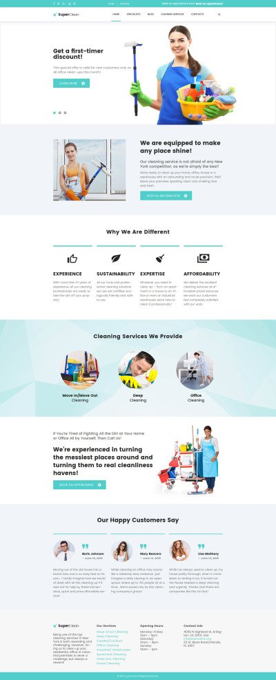 SuperClean - Cleaning & Maintenance Service