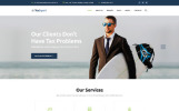 """Tax Advisor & Financial Consultant"" Responsive Website template"