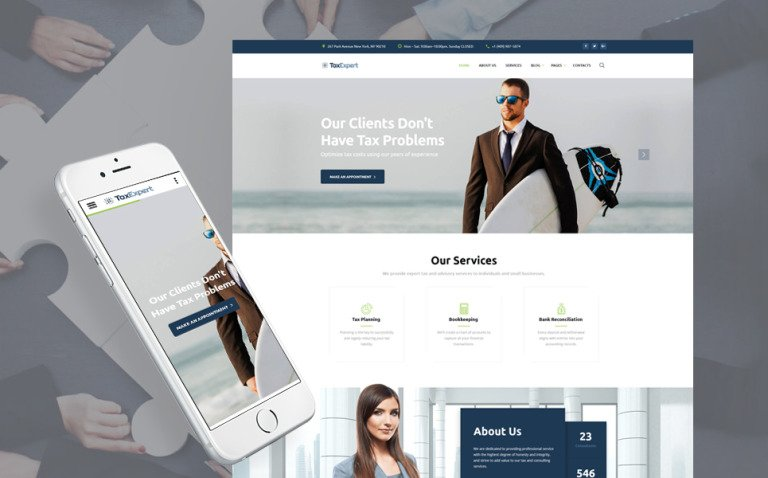 Tax Advisor & Financial Consultant Website Template New Screenshots BIG
