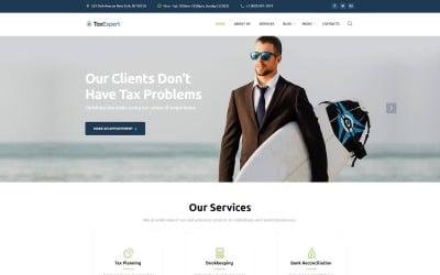 Tax Advisor & Financial Consultant Website Template #61343