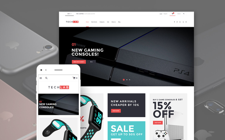 TechLab - Innovative Electronics Store WooCommerce Theme New Screenshots BIG