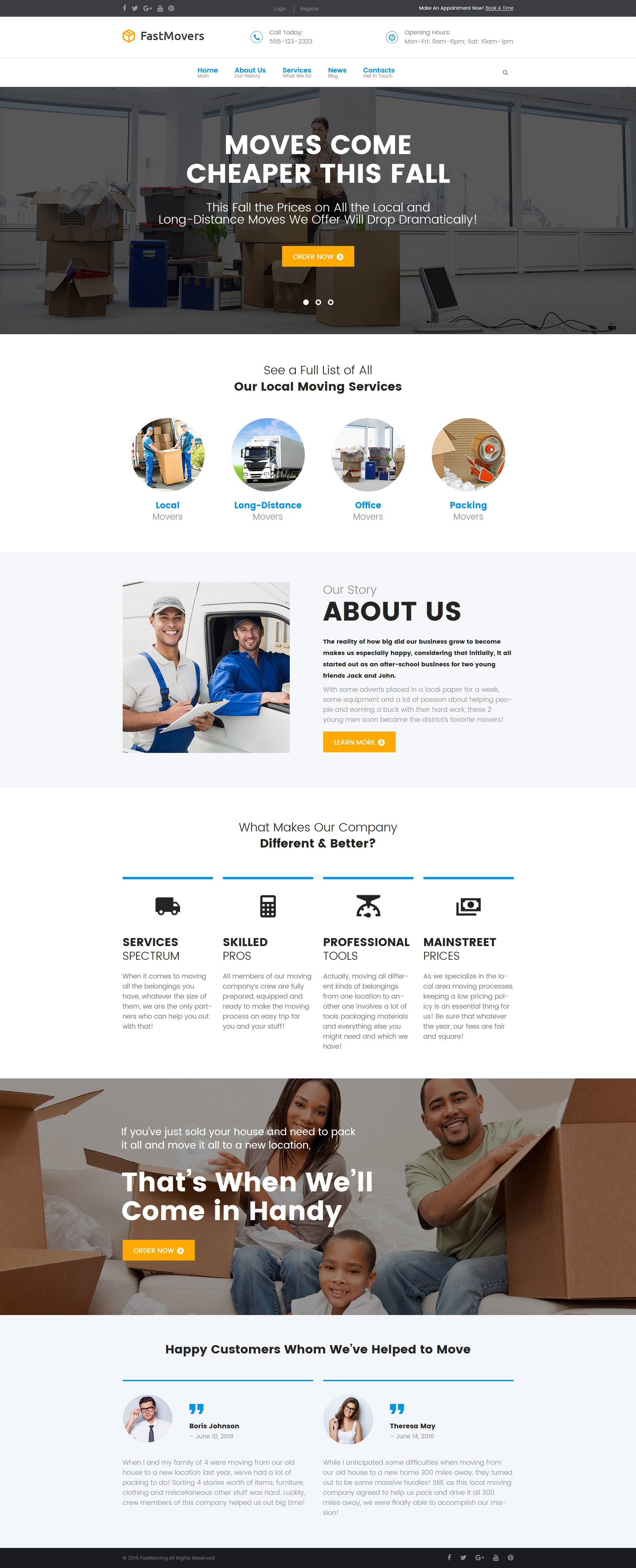 "Tema De WordPress ""Fast Moving - Transportation & Moving Services"" #61378"