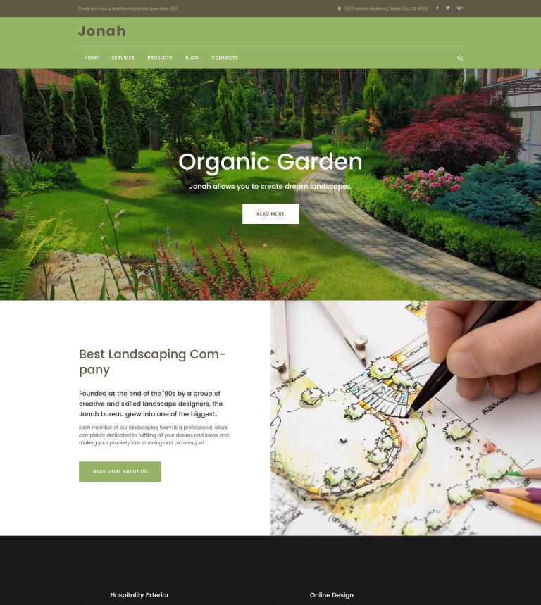 Tema de WordPress #61319 para Sitio de Diseño de paisaje