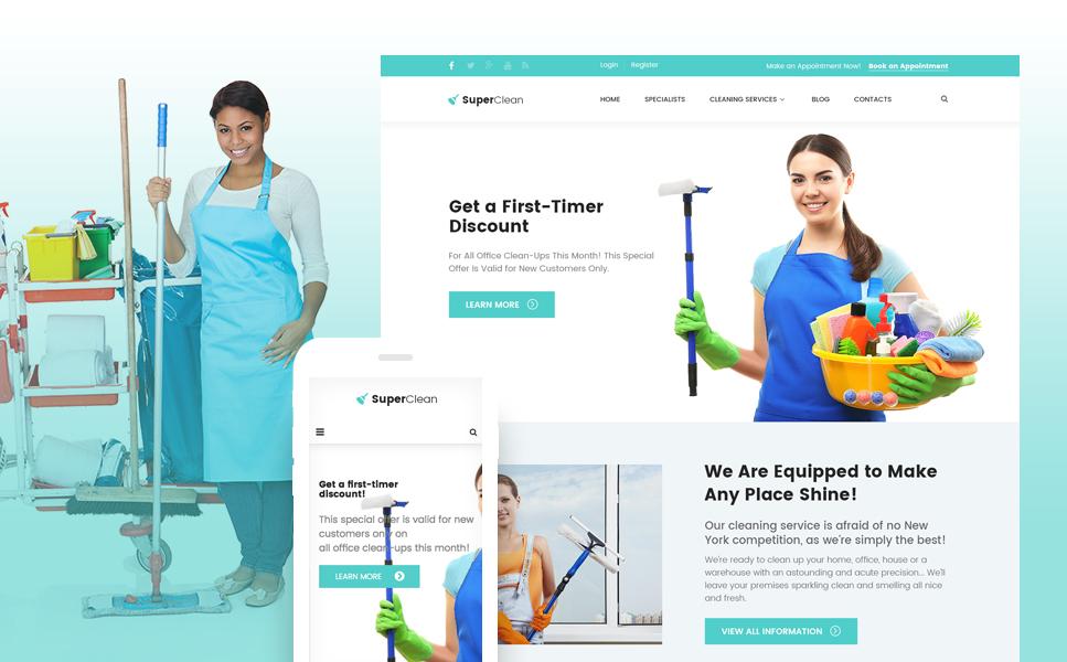 Tema de WordPress #61380 para Sitio de Servicios de limpieza