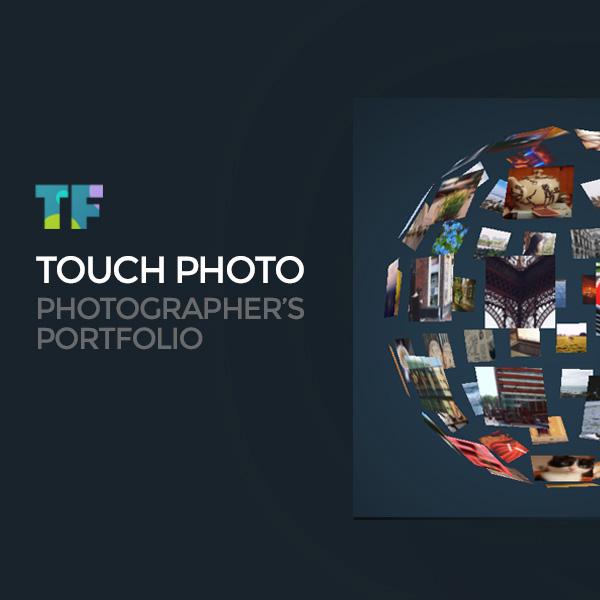 "Tema Siti Web Responsive #61362 ""Touch Photo"""