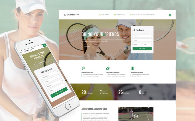 Tennis Club - Sports & Events Multipage Website Template New Screenshots BIG
