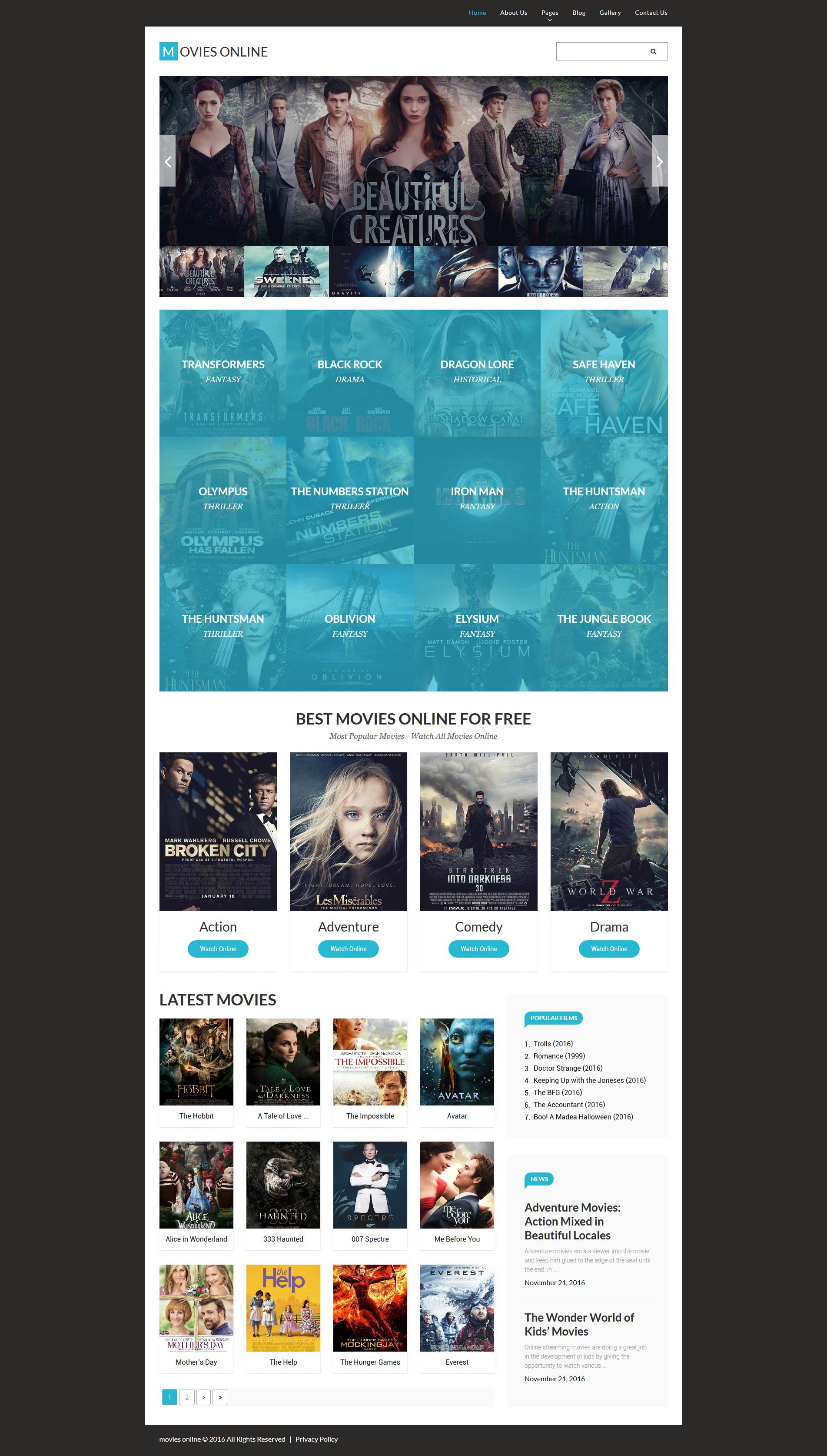 Thème Joomla adaptatif pour site de films #61332