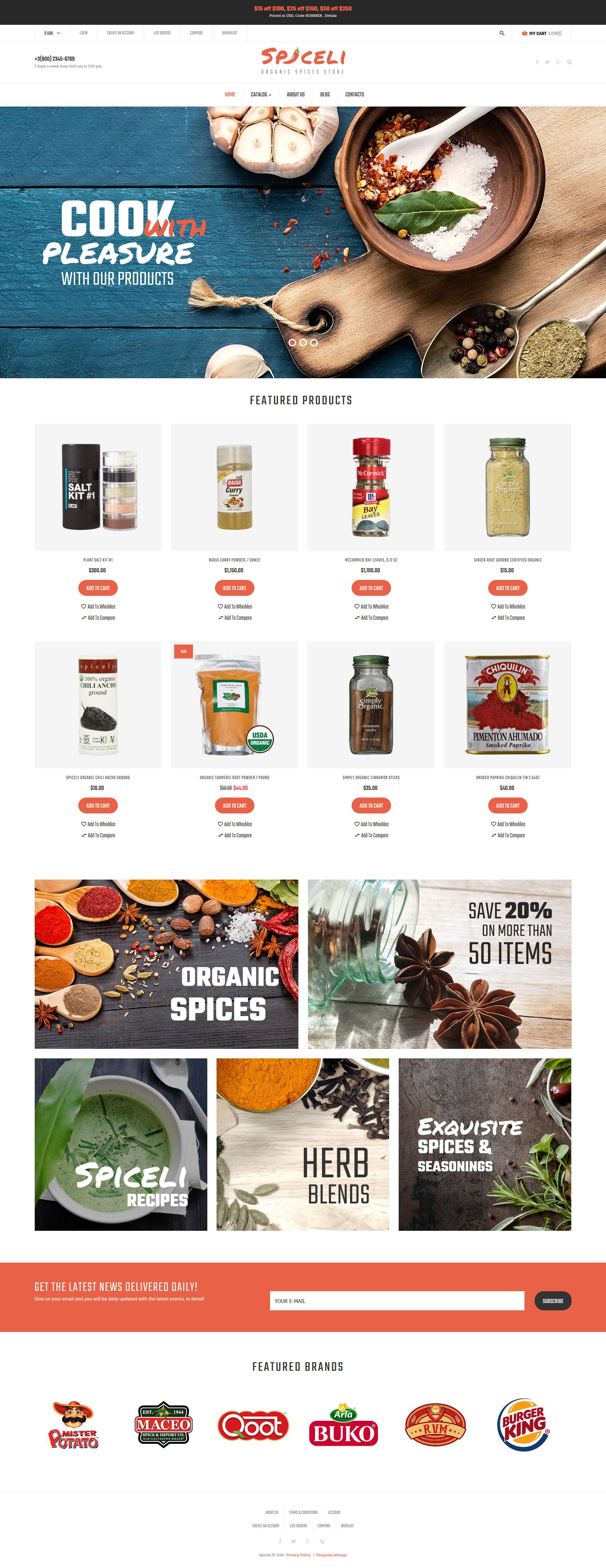 Thème VirtueMart pour une boutique d'épices #61356