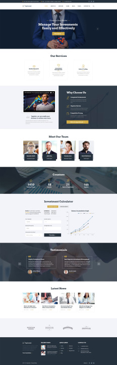 Corporate Website Templates | TemplateMonster