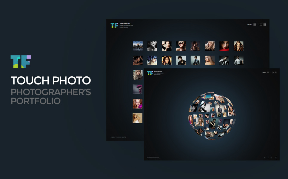 Touch Photo Website Template New Screenshots BIG